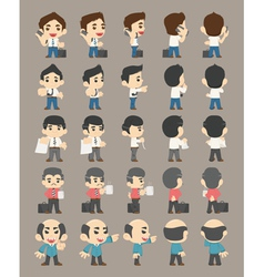 Set of business man characters vector image