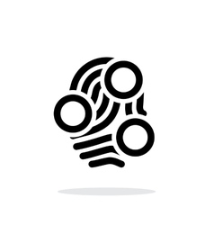 Fingerprint loop type scan icon on white vector