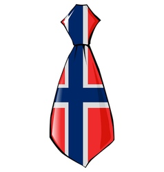 Necktie in national colours of norway vector