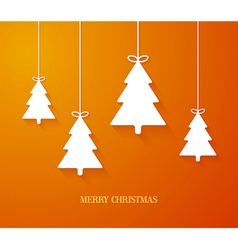 Hanging paper christmas tree vector