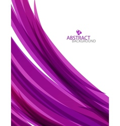 Purple wave template vector