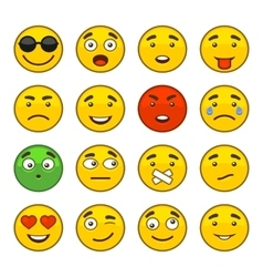 Set of emoji smile icons set vector