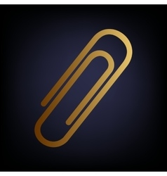 Clip sign golden style icon vector