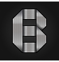 Letter metal chrome ribbon - b vector
