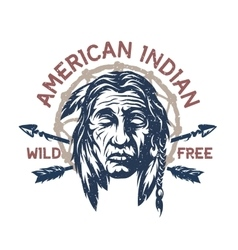 American indian t-shirt graphic vector