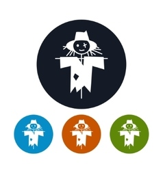 Four types of round icons scarecrow vector