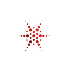 Abstract star halftone logo new technology vector
