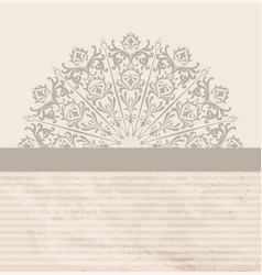 Abstract vintage background retro textured floral vector