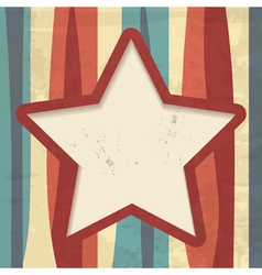 background with stripes and a star frame vector image vector image