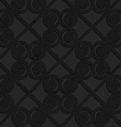 Black textured plastic swirls in square grid vector image vector image