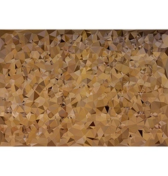 Brown polygonal mosaic background vector image