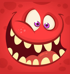 cartoon monster face isolated avatar vector image vector image