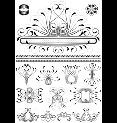 Collection of original frames vector image vector image
