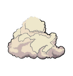 Cute cloud forecast web weather white background vector