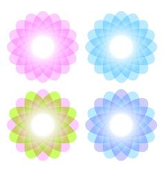 Decorative color figures vector image vector image