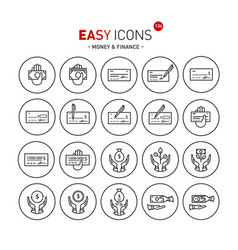 easy icons 13b money vector image vector image