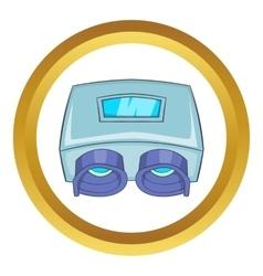 Eye checking machine icon vector