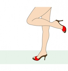 female feet vector image