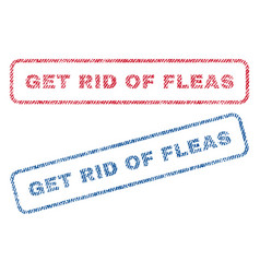 Get rid of fleas textile stamps vector