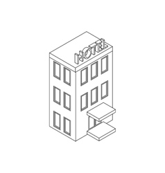 Hotel building icon isometric 3d style vector