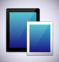 Realistic tablet pc computer template vector image