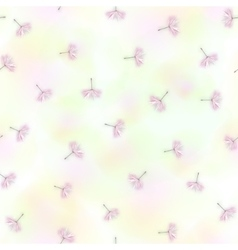 Seamless with dandelion seeds flying vector image vector image
