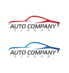 Speed auto car logo template vector