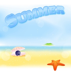 summer black pearl vector image vector image
