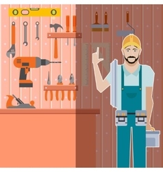 Tool shed with worker vector