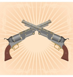 Two revolvers vector