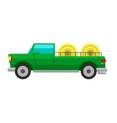 type of agricultural vehicle or harvester machine vector image vector image