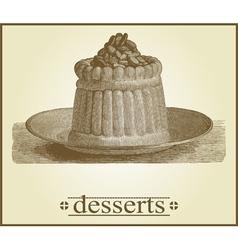 vintage menu vector image vector image