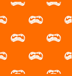 Zombie mouth pattern seamless vector