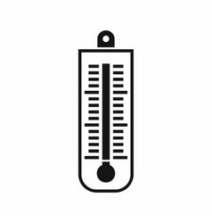 Thermometer icon simple style vector