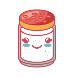 Condiments ingredients kawaii style cooking icon vector