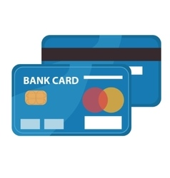 Credit card icon flat design bankcard isolated vector