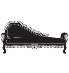 Vintage upholstered entrance bench vector