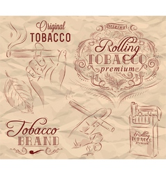 Tobacco brown vector image