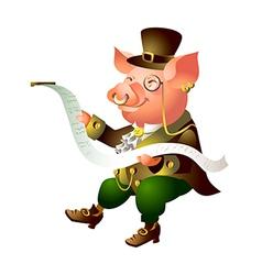 Icon pig vector
