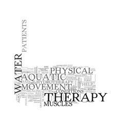 Aquatic fitness the move to water exercise text vector