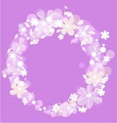 romantic flower background vector image