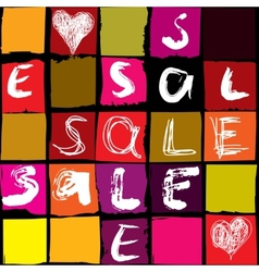 Sale typo background vector