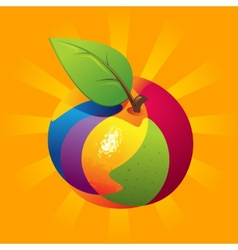Exotic fruit mix vector