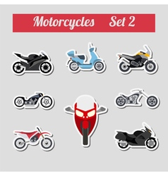 Set of elements motorcycles for creating your own vector