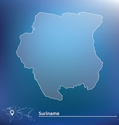 Map of suriname vector