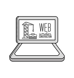 Under construction website vector