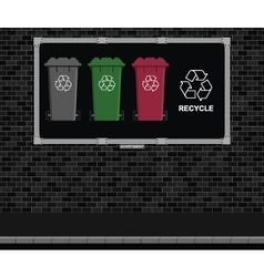 Recycling advertising board vector