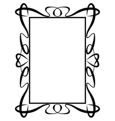 calligraphy ornamental decorative frame with heart vector image