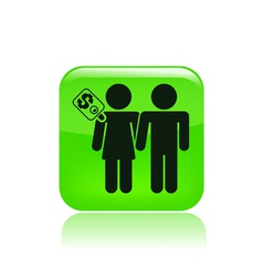 Couple for cash vector