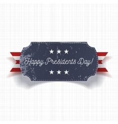 Happy presidents day big realistic banner template vector